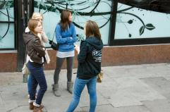 Girls Conversing
